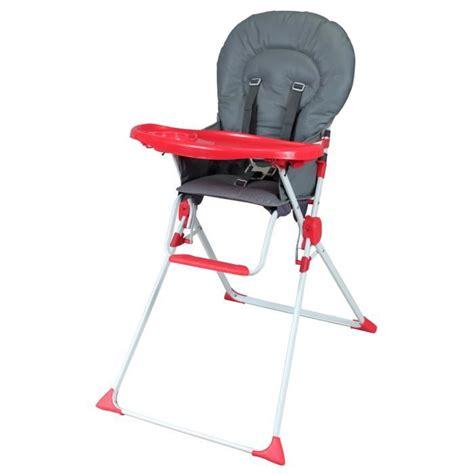 bambikid chaise haute fixe gris gris et