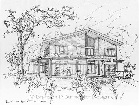 sketchbook layout perspective sketch gable web brandon d burmeister design