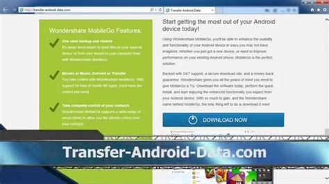 mobile go for android how to use wondershare mobile go for android