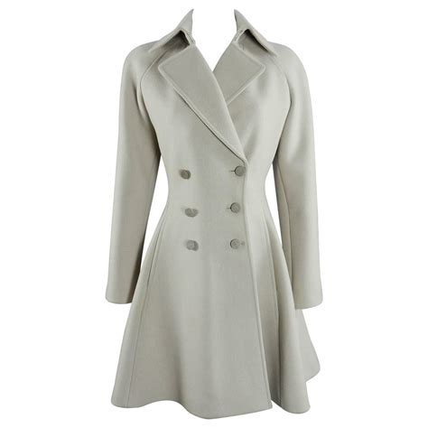 Dress Coat alaia dove grey structured wool dress coat at 1stdibs