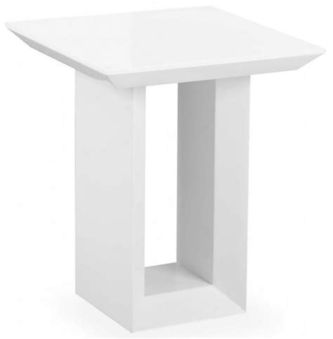 White Gloss Side Table Buy Zeus White High Gloss Side Table Cfs Uk