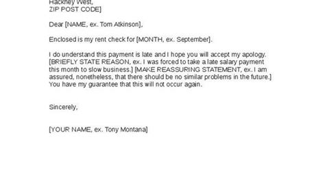Apology Letter To Landlord For Late Rent Payment apology to landlord for late rent payment with
