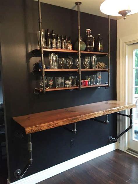 wall mounted desk idea bars  home rustic bar home