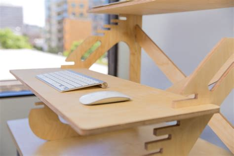 wood standing desk affordable diy standing desks ideas made from wood