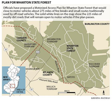 map of wharton charged with growing pot in wharton state forest