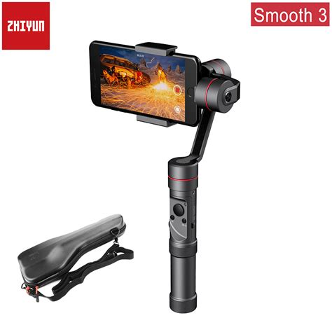 zhiyun smooth 3 aluminum 3 axis handheld smartphone gimbal stabilizer for iphone xs max x 8plus