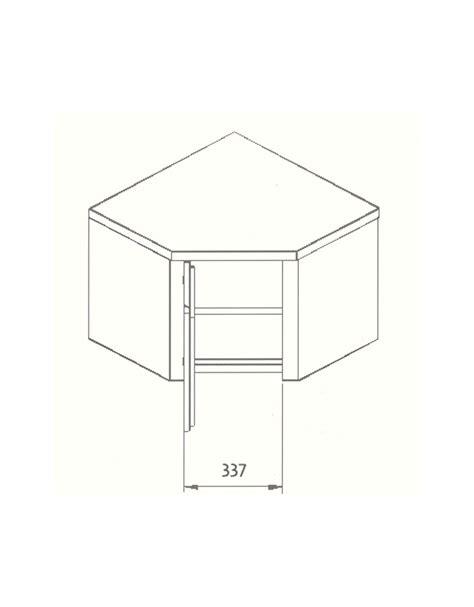 armadietti pensili armadietto pensile ad angolo dimensioni cm 70x70x60h