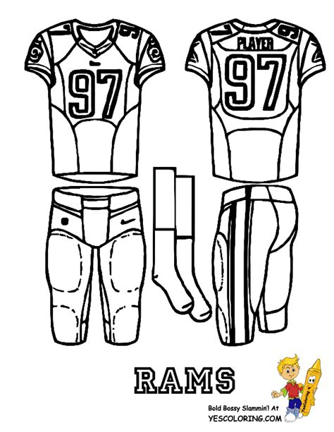 st louis rams free colouring pages