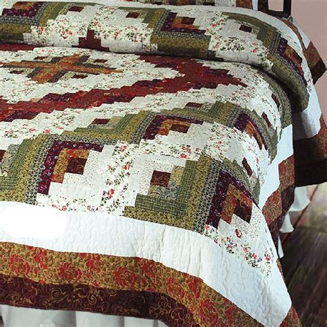 Log Cabin Patchwork - log cabin patchwork quilt bedding