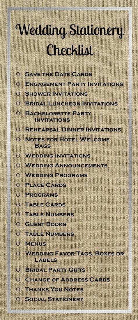 stationery checklist for a wedding wedding checklist stone hill paperie blog