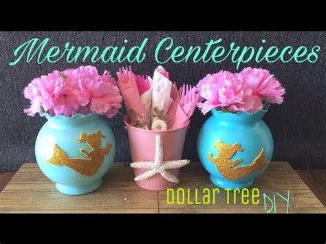 diy centerpieces for baby shower dollar tree diy mermaid centerpiece mermaid birthday
