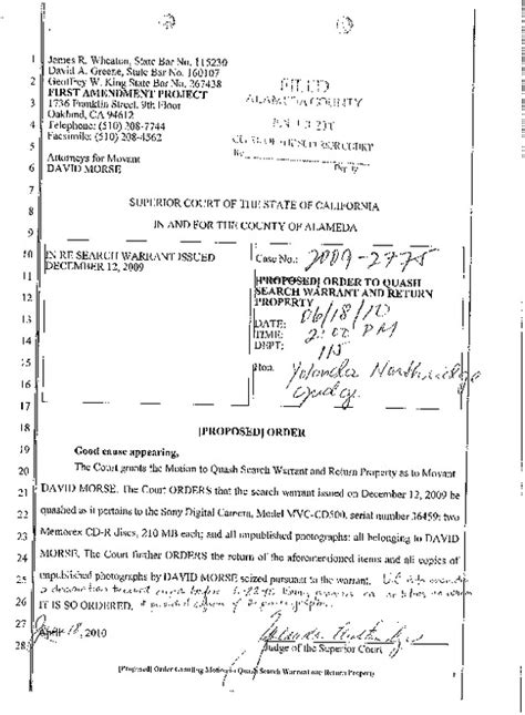 California Search Warrant Best Photos Of Quash A Warrant Motion Quash Warrant