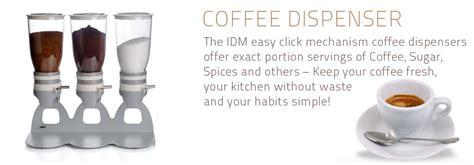 supplement powder dispenser powder coffee dispenser cereal dispenser by idm