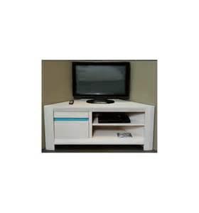 meuble tv d angle blanc meuble tv hifi d angle 1 porte murano girardeau