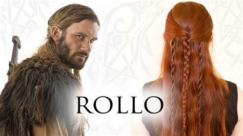 Vikings Rollo Braided Hair | vikings hair tutorial for men rollo lodbrok lothbrok