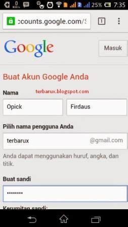cara membuat gmail lewat android cara membuat email baru akun google mail gmail lewat hp