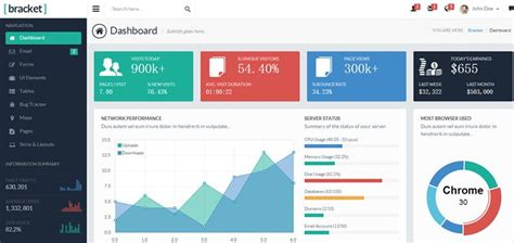 theme layout yii2 20 free bootstrap admin dashboard templates