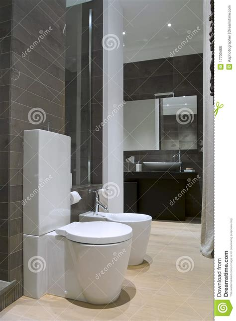 bathroom wares modern bathroom with white sanitary ware stock photo