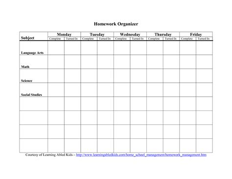 printable planners for homework homework daily planner