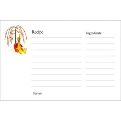 avery template 8386 templates thanksgiving recipe cards on postcards 2 per