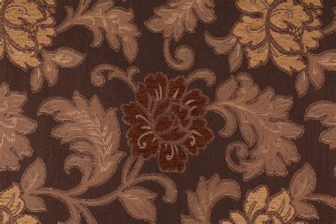 mill creek upholstery fabric anniston in brown chenille damask upholstery fabric by