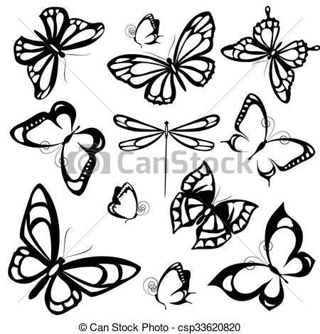 farfalle clipart farfalle disegno illustrazione vettoriale cerca clip