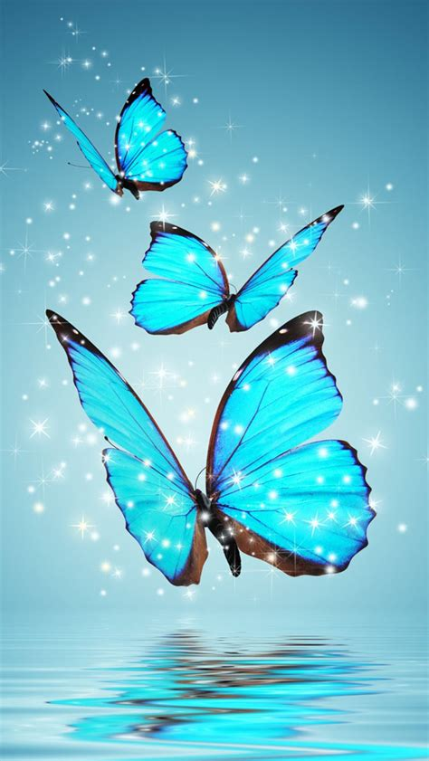 blue wallpaper with butterflies blue butterflies wallpaper free iphone wallpapers