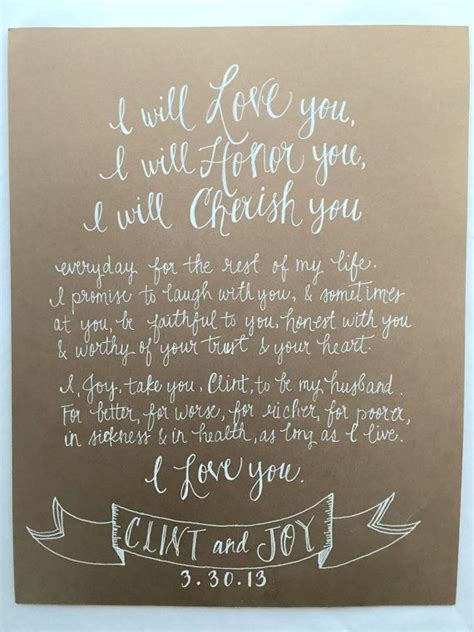 wedding ceremony guest vows written vows wedding vow artwork by styledahlia on