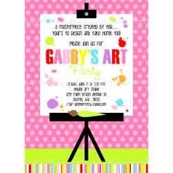 painting art party printable invitation dimple prints shop
