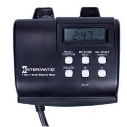 how to set an outdoor light timer intermatic hb880r 15 seven day outdoor digital timer