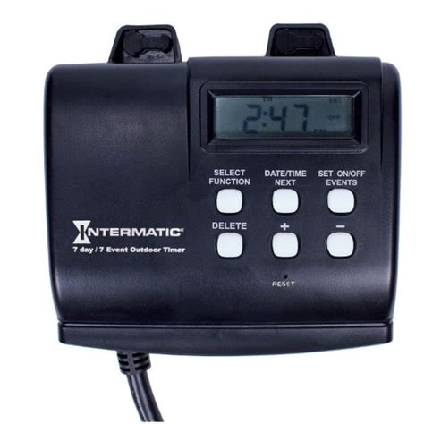 How To Set An Outdoor Light Timer Intermatic Hb880r 15 Seven Day Outdoor Digital Timer 078275140134 Toolfanatic