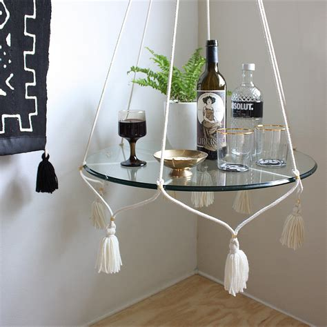 Hanging Table by Hanging Table Plant Holder With Tassels Cotton