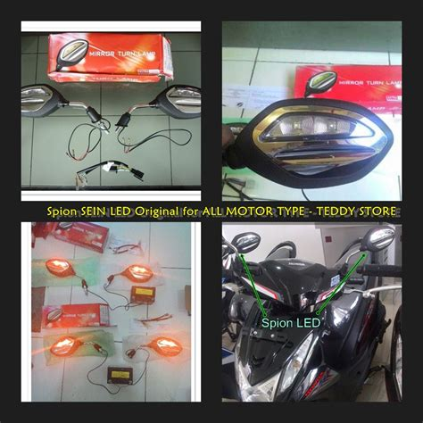 Spion Led Motor Beat jual spion sein led honda supra x blade beat fi vario 110 125 150 astra teddy store