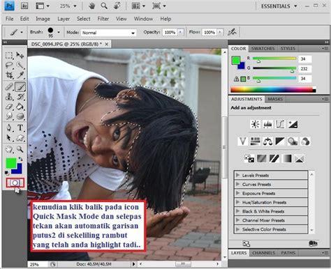 tutorial highligt rambut fizgraphic tutorial photoshop warnakan rambut anda