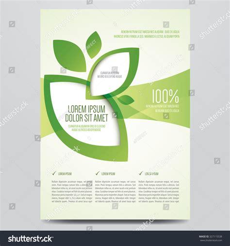 vector eco flyer poster brochure magazine cover