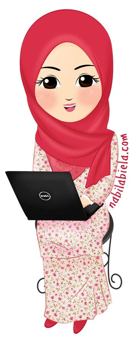 free doodle muslimah vector free muslim and on