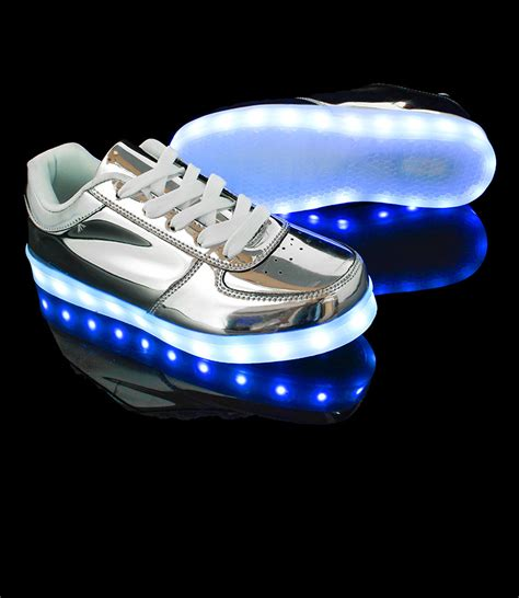 silver light up shoes holographic light up shoes exclusive led hologram silver