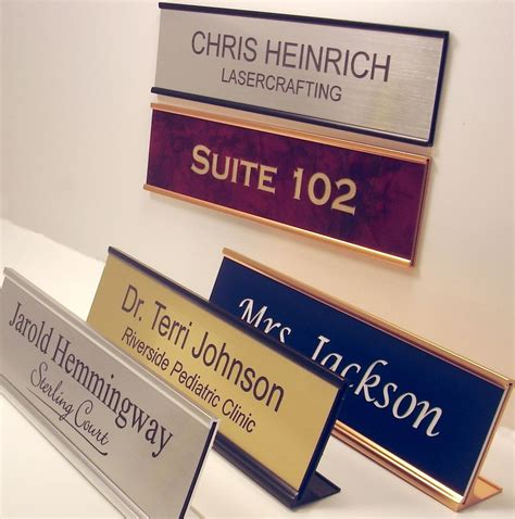 custom office desk signs office desk name plates car interior design