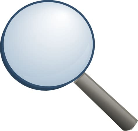magnifier without shade clip at clker vector