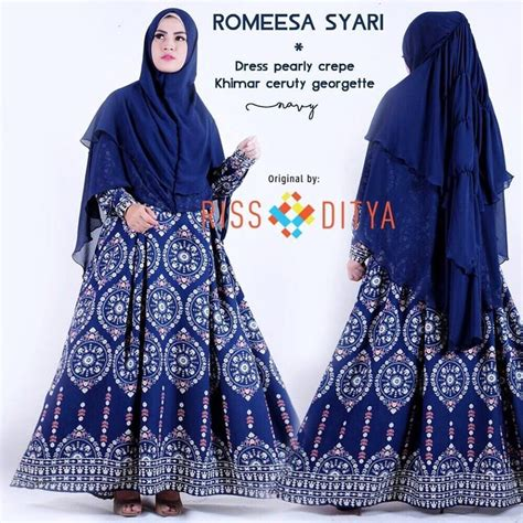 Pusat Grosir Baju Pineaplle Dress Pearly Crepe abitistyle dot muslim fashion busana muslim terbaru romeesa syari by rsd