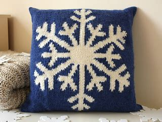 ravelry snowflake cushion pattern  vikki bird