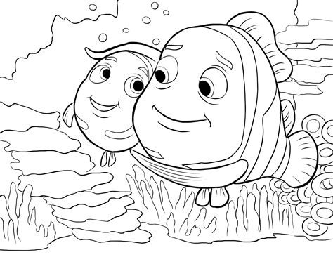 nemo coloring pages disney coloriages nemo page 2