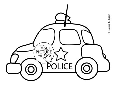 vehicle coloring pages printable police car transportation coloring pages for kids