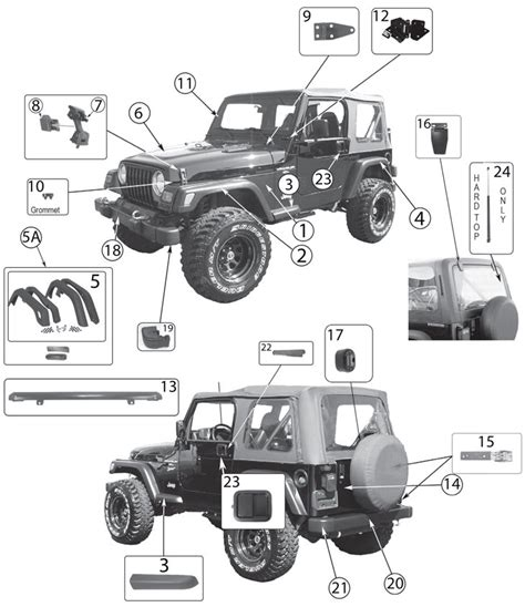 jeep parts jeep wrangler tj exterior parts 97 06 quadratec