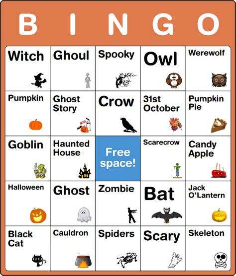ghost bingo card template spooky free card for staruptalent