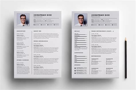 2 page resume format pdf format business document