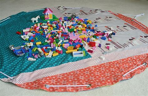Drawstring Bag Tapis lego storage bag playmat freshly pieced
