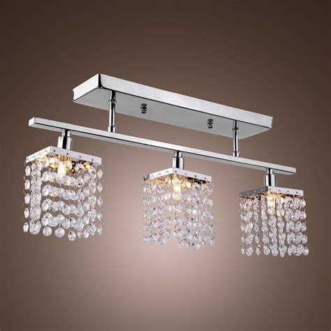 ceiling light fixtures for dining rooms 3 light hanging crystal linear with solid metal fixture