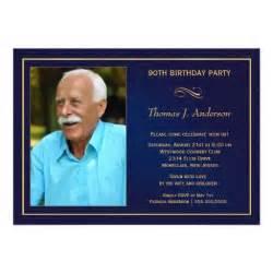 90th birthday invitations add your photo 5 quot x 7 quot invitation card zazzle