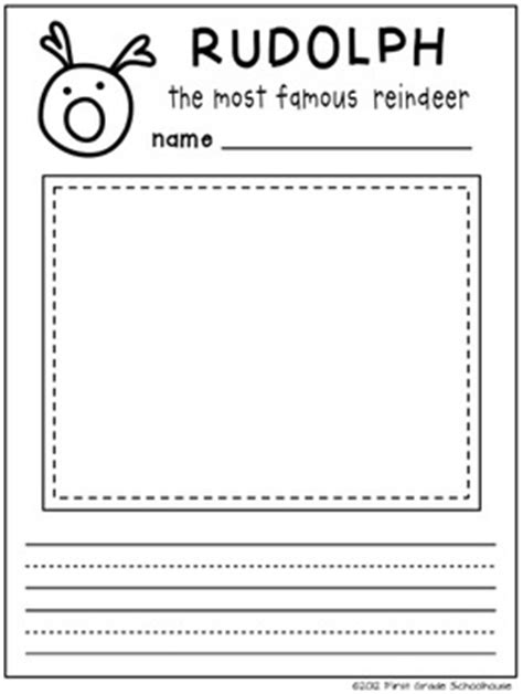 printable reindeer glyph christmas writing for first graders 1000 images about